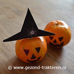 Halloween Traktaties.Traktatie Halloween Mandarijn Halloween Mandarijn